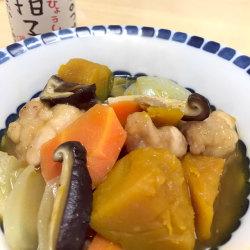 豚々拍子を使った秋の味覚たっぷりのとろとろ煮物