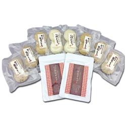 ニコニコお餅とぜんざいセット 雑穀ぜんざいと二個入りお餅4種のセットです。