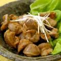 赤唐辛子にんにくで作る砂肝のガーリック炒め