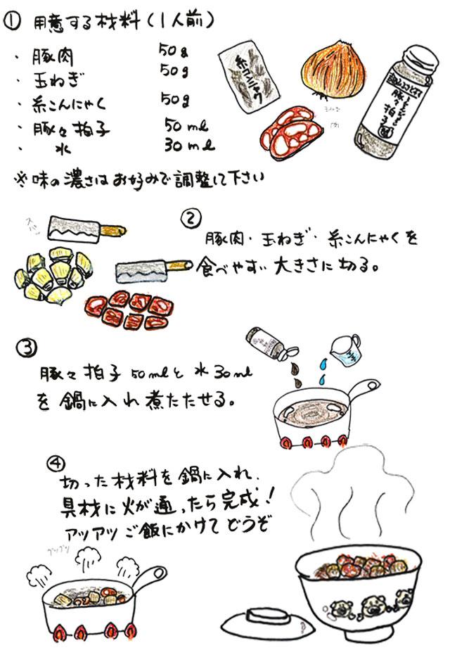 豚々拍子を使った豚丼の作り方